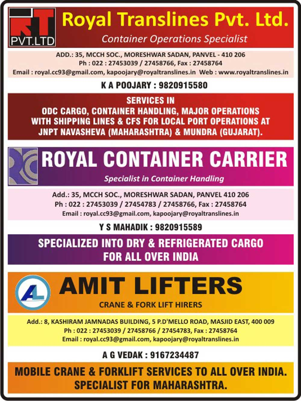 Royal Container Carriers