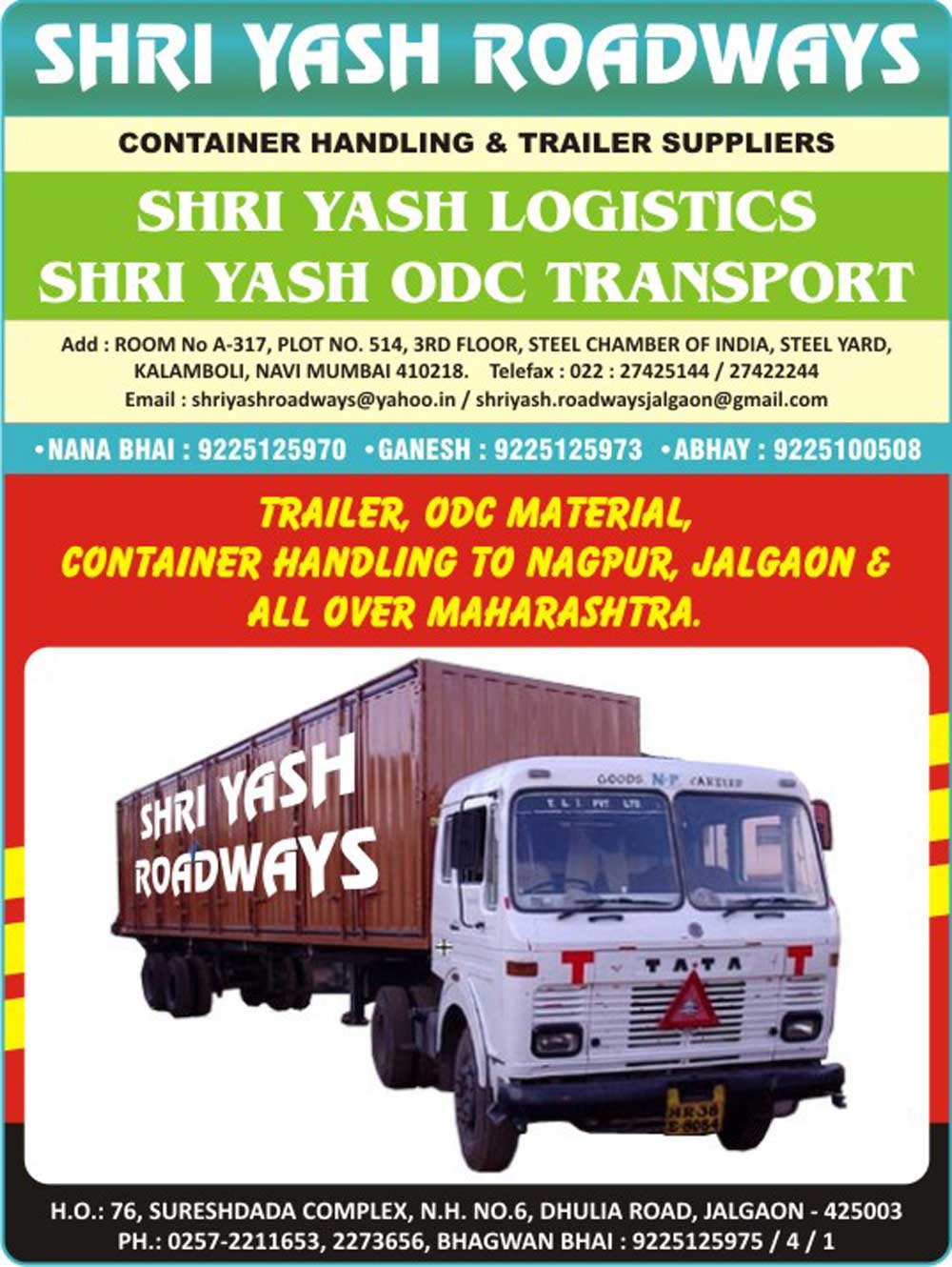 Shri Yash Roadways